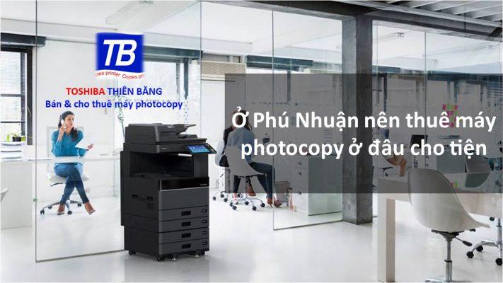 Thuê máy photocopy ở Phú Nhuận